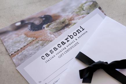 Casa Carboni Gift Vouchers